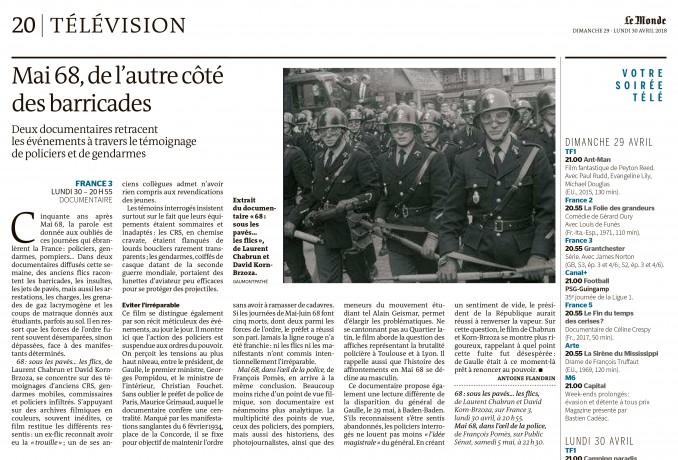 Le Monde Mai 68